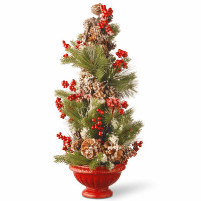 National Tree Co. 2 Foot Red Urn Christmas Tree