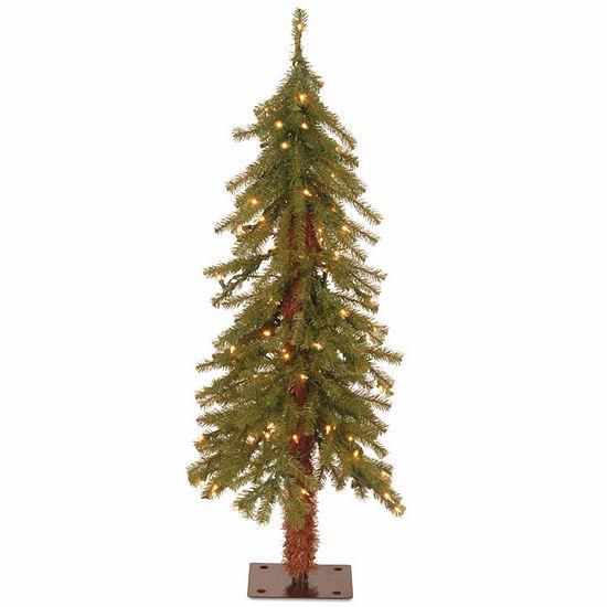 National Tree Co. 3 Foot Hickory Cedar Cedar Pre-Lit Christmas Tree