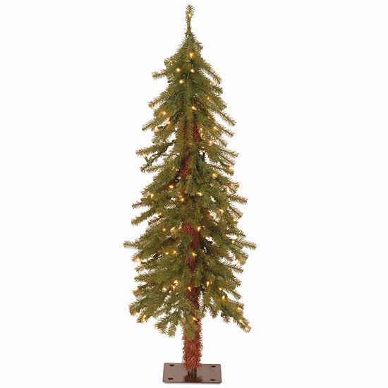 National Tree Co. 4 Foot Hickory Cedar Cedar Pre-Lit Christmas Tree