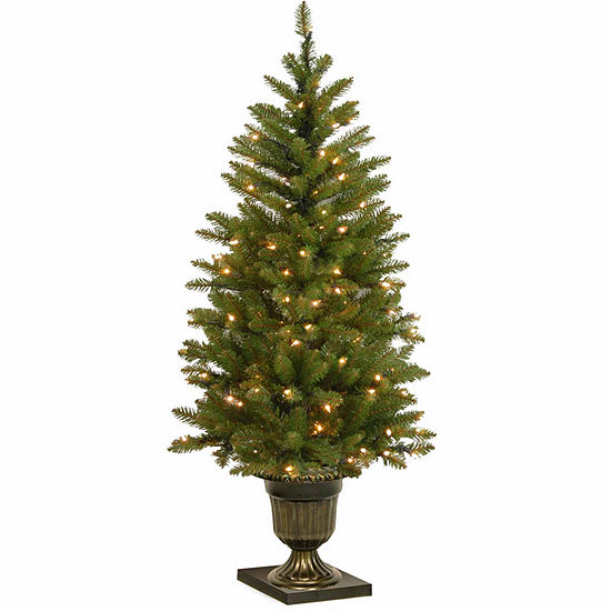 Dunhill Fir Christmas Tree.National Tree Co 4 Foot Dunhill Fir Entrance Fir Pre Lit Christmas Tree
