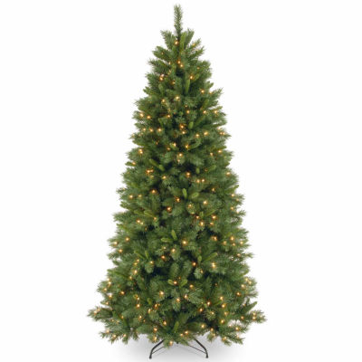 National Tree Co. 7 1/2 Foot Lehigh Valley Pine Hinged Pine Pre-Lit Christmas Tree