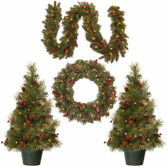 National Tree Co. 3 Foot Entrance Pre-Lit Christmas Tree