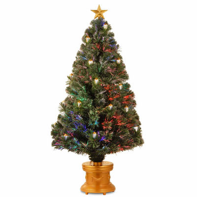 National Tree Co. 4 Foot Shiny Gold Lantern Pre-Lit Christmas Tree