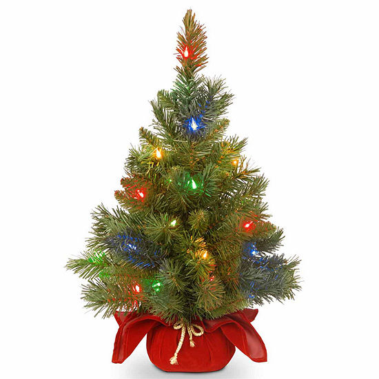 National Tree Co. 2 Foot Majestic Spruce Spruce Pre-Lit Christmas Tree