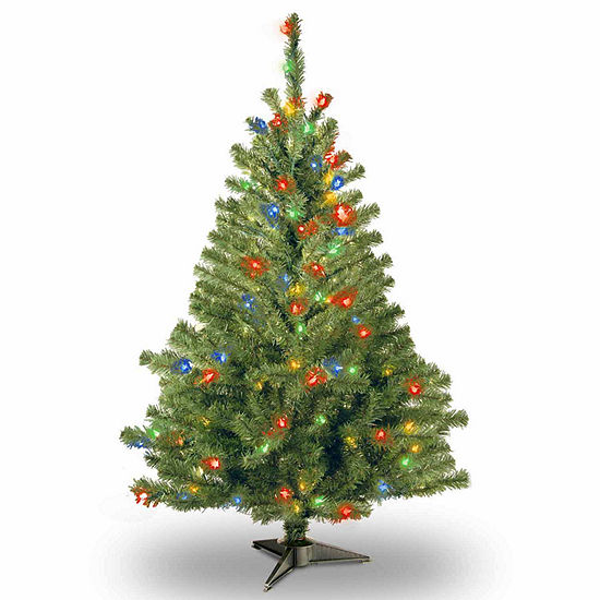 National Tree Co. 4 Foot Kincaid Spruce Spruce Pre-Lit Christmas Tree