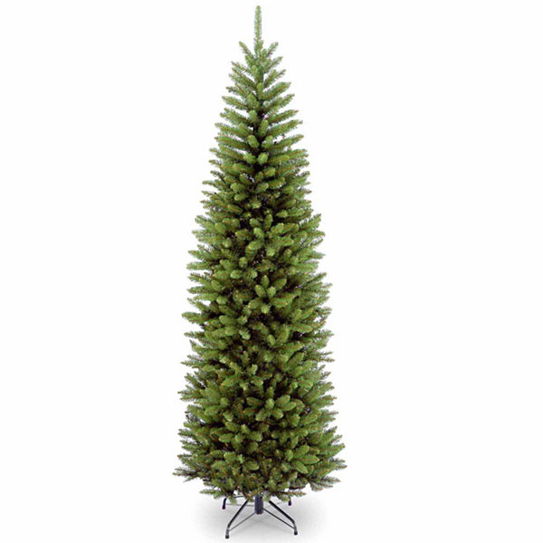 National Tree Co. 7 1/2 Foot Kingswood Fir Hinged Pencil Christmas Tree