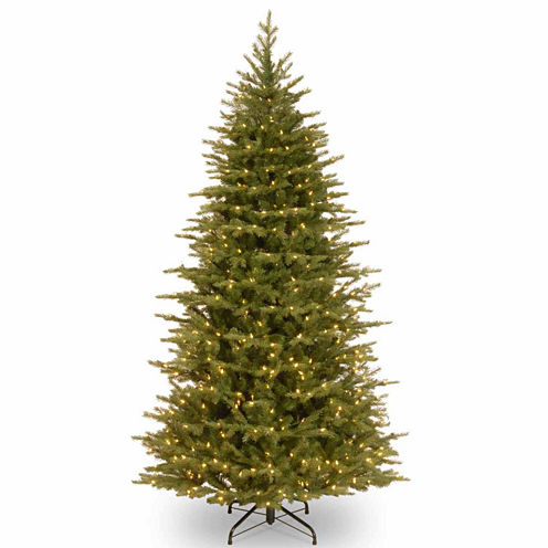 National Tree Co. 7 1/2 Foot Nordice Spruce Slim Pre-Lit Christmas Tree