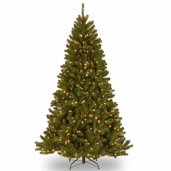 National Tree Co 7.5 Feet North Valey Spruce Hinged Pre-Lit Christmas Tree