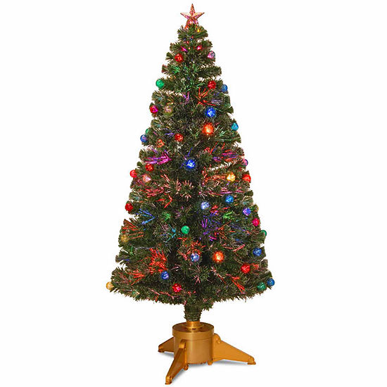National Tree Co. 6 Foot Fireworks Ornament & Top Star Pre-Lit Christmas Tree