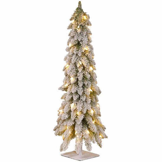 National Tree Co. 3 Foot Snowy Downswept Pre-Lit Christmas Tree