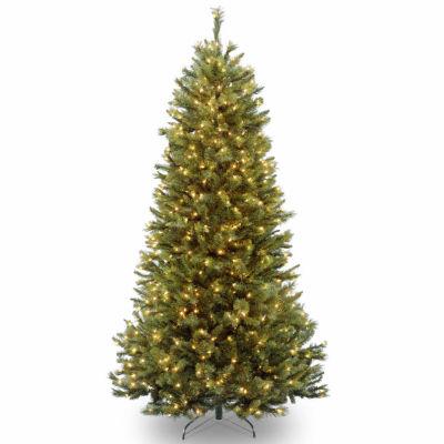 National Tree Co. 7 1/2 Foot Rocky Ridge Slim Pine Pine Pre-Lit Christmas Tree
