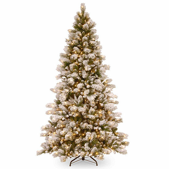 National Tree Co. 7 1/2 Foot Snowy Westwood Pine Pine Pre-Lit Christmas Tree