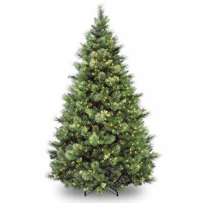 National Tree Co. 7 1/2 Foot Carolina Pine Hinged Pine Pre-Lit Christmas Tree