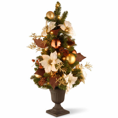 National Tree Co. 3 Foot Nature Entrance Pre-Lit Christmas Tree
