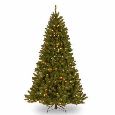 National Tree Co. 6 1/2 Foot North Valley Spruce Hinged Pre-Lit Christmas Tree
