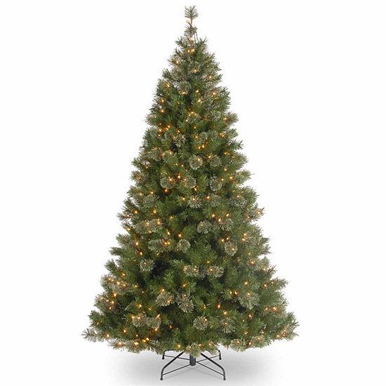 National Tree Co. 7 1/2 Foot Atlanta Spruce Hinged Spruce Pre-Lit Christmas Tree