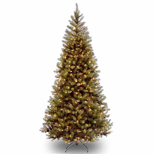 National Tree Co. 7 Foot Aspen Spruce Hinged Pre-Lit Christmas Tree