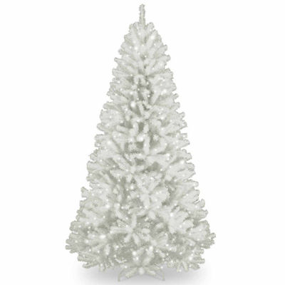 National Tree Co. 7 Foot North Valey White Spruce Hined Spruce Pre-Lit Christmas Tree
