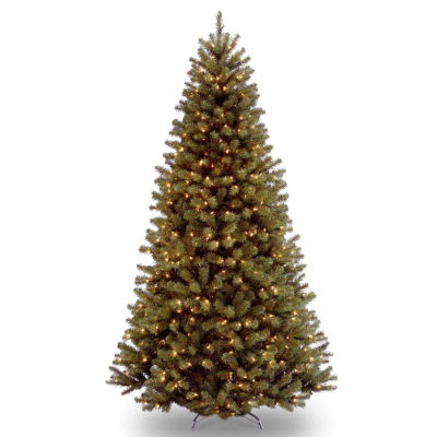 National Tree Co. 9 Foot North Valley Spruce Hinged Spruce Pre-Lit Christmas Tree