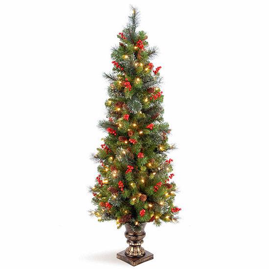 National Tree Co. 5 Foot Crestwood Spruce Spruce Pre-Lit Christmas Tree