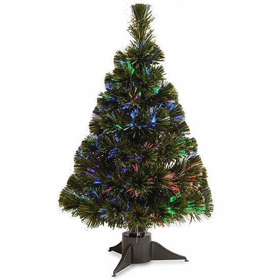 National Tree Co. 2 Foot Fiber Optic Ice Pre-Lit Christmas Tree