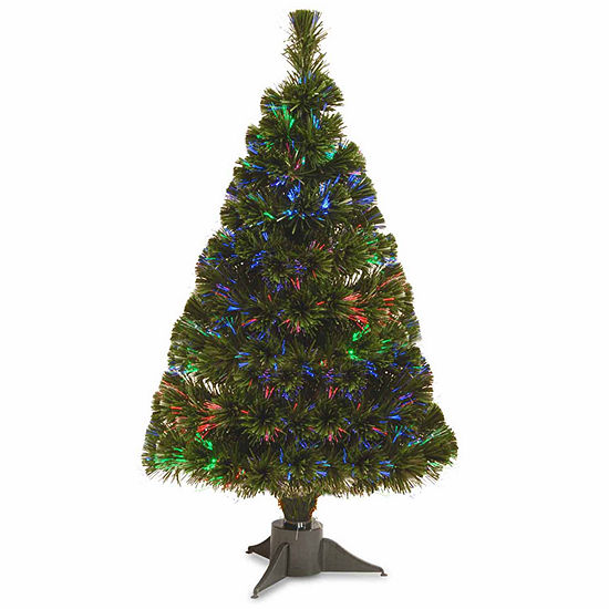 National Tree Co. 2 Foot Fiber Optic Ice Pre-Lit Christmas Tree