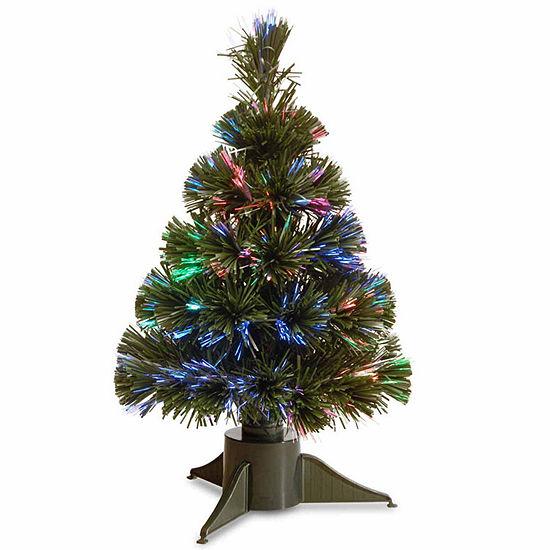 Jc Penney Christmas Trees: National Tree Co. Fiber Optic Ice Pre-Lit Christmas Tree