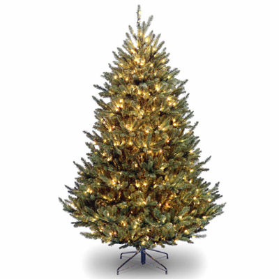 National Tree Co. 7 1/2 Foot Natural Fraser Fir Hinged Fir Pre-Lit Christmas Tree