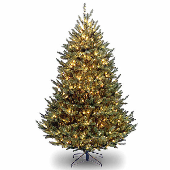National Tree Co. 7 1/2 Foot Natural Fraser Fir Hinged Fir Pre-Lit Christmas Tree