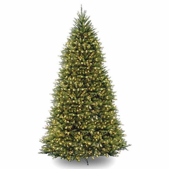 National Tree Co. 10 Foot Dunhill Fir Hinged Fir Pre-Lit Christmas Tree