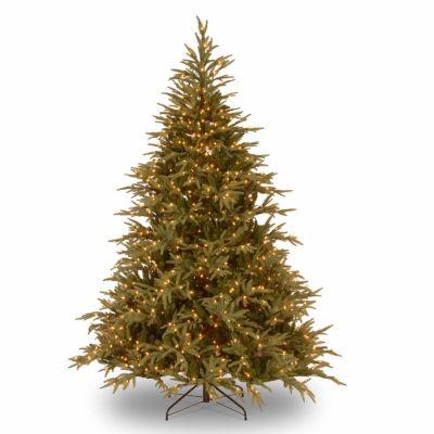 National Tree Co. 7 1/2 Foot Frasier Grande Hinged Fir Pre-Lit Christmas Tree