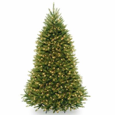 National Tree Co. 7 1/2 Foot Dunhill Fir Hinged Fir Pre-Lit Christmas Tree