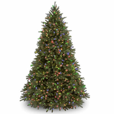 National Tree Co. 7 1/2 Foot Jersey Fraser Fir Hinged Fir Pre-Lit Christmas Tree