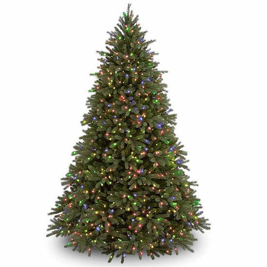 National Tree Co. 7 1/2 Foot Jersey Fraser Fir Hinged Fir Pre-Lit Christmas Tree