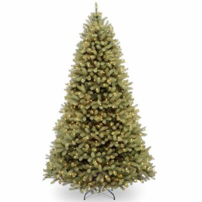 National Tree Co. 9 Foot Downswept Douglas Fir Hinged Fir Pre-Lit Christmas Tree