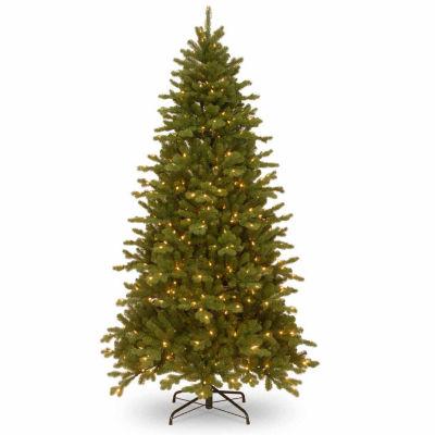 National Tree Co. 7 1/2 Foot Sheridan Memory-Shape Pre-Lit Christmas Tree