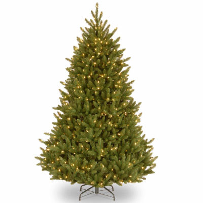 National Tree Co. 7 1/2 Foot Natural Fraser Fir Hinged Pre-Lit Christmas Tree