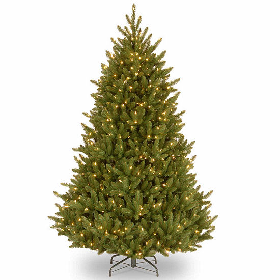 National Tree Co 7 1 2 Foot Natural Fraser Fir Hinged Fir Pre Lit Christmas Tree
