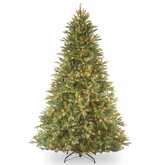 National Tree Co. 7 1/2 Foot Tiffany Fir Fir Pre-Lit Christmas Tree
