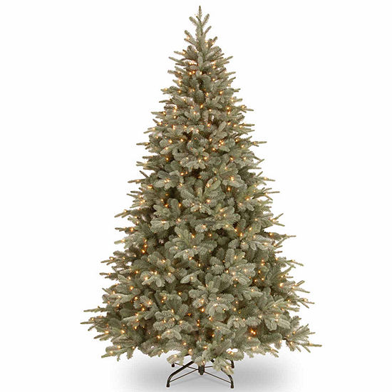 National Tree Co. 7 1/2 Foot Frost Artic Spruce Hinged Spruce Pre-Lit Christmas Tree