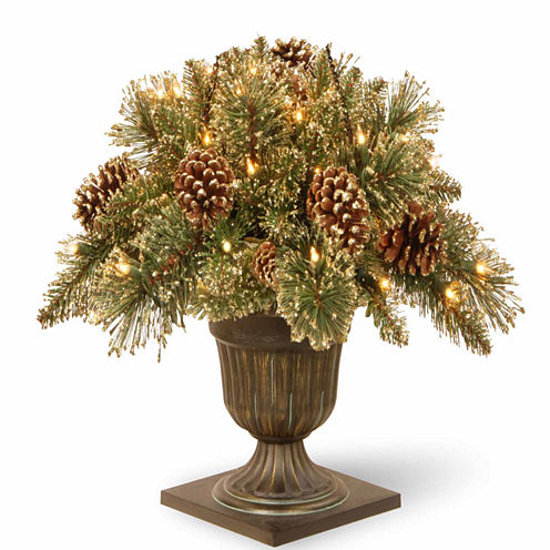 National Tree Co. 2 Foot Glittery Gold Pine Porch Pre-Lit Christmas Tree