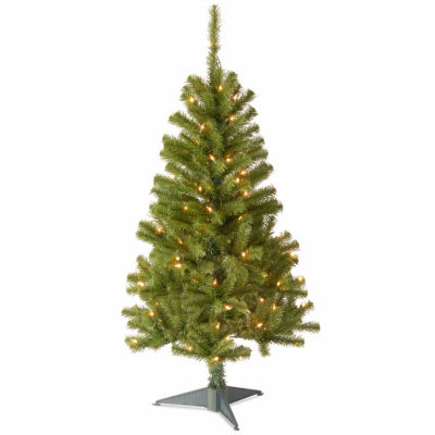 National Tree Co. 4 Foot Canadian Fir Grande Wrapped Pre-Lit Christmas Tree