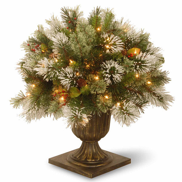 National Tree Co. 2 Foot Wintry Pine Porch Pre-Lit Christmas Tree
