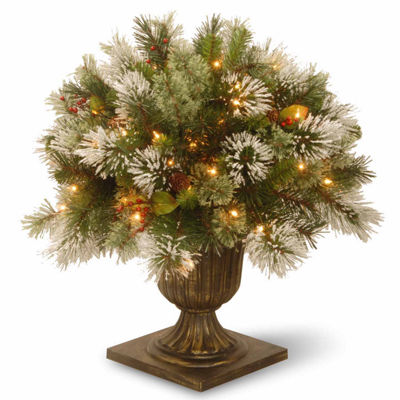 National Tree Co. 2 Foot Wintry Pine Porch Pine Pre-Lit Christmas Tree