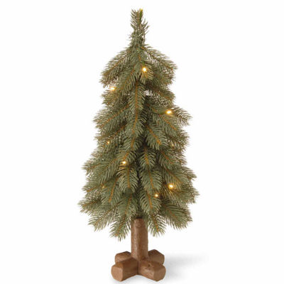 National Tree Co. 2 Foot Bayberry Spruce Blue Cedar Pre-Lit Christmas Tree