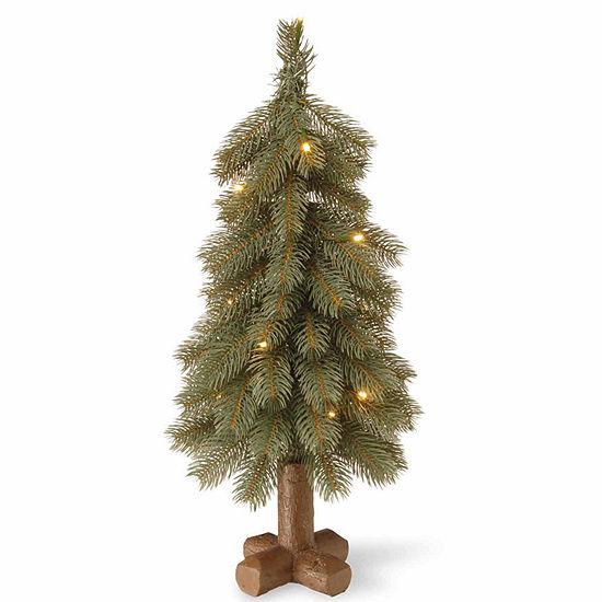 National Tree Co. 2 Foot Bayberry Spruce Blue Cedar Pre-Lit Christmas Tree