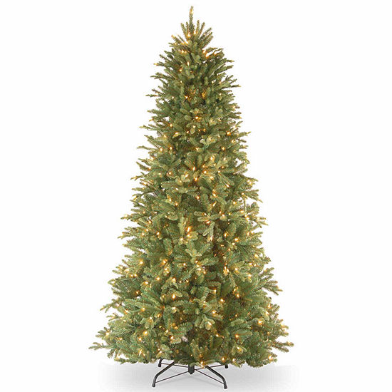 National Tree Co. 6 1/2 Foot Tiffany Fir Slim Fir Pre-Lit Christmas Tree
