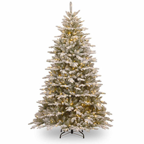 National Tree Co. 7 1/2 Foot Snowy Sierra Spruce Pre-Lit Christmas Tree