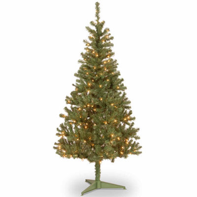 National Tree Co. 6 Foot Canadian Fir Grande Wrapped Pre-Lit Christmas Tree