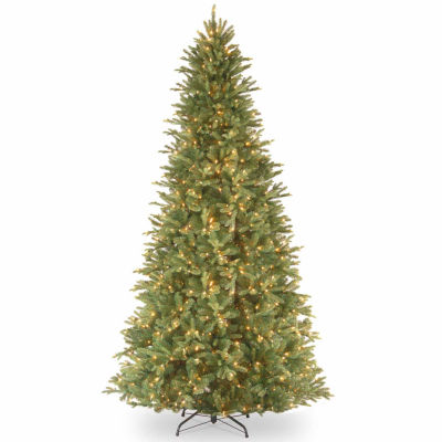 National Tree Co. 9 Foot Tiffany Fir Slim Pre-Lit Christmas Tree